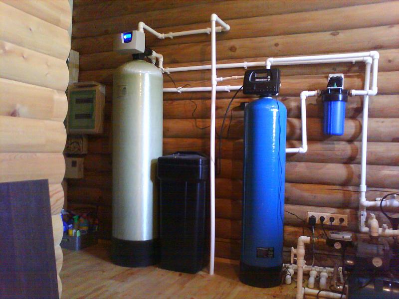 Умягчитель воды и осадочный фильтр