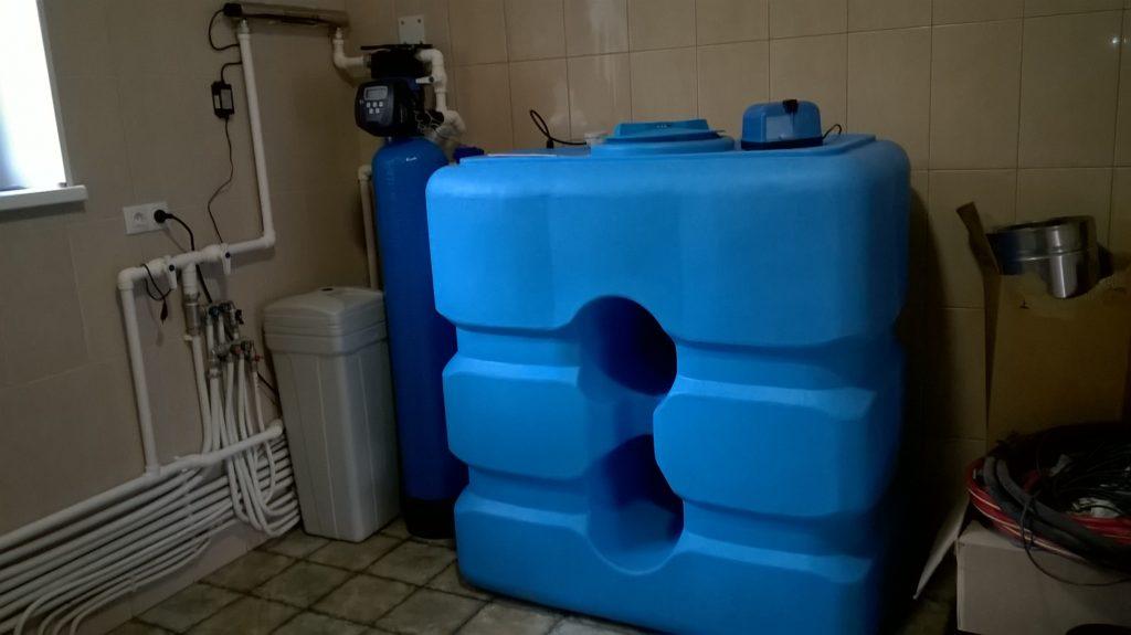 Система аэрации и умягчения воды