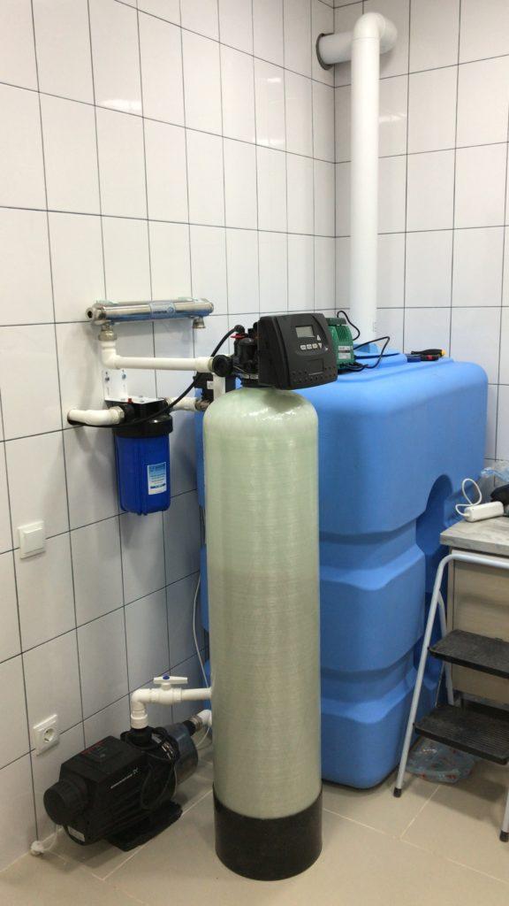 Классический комплекс очистки воды от радона и жесткости