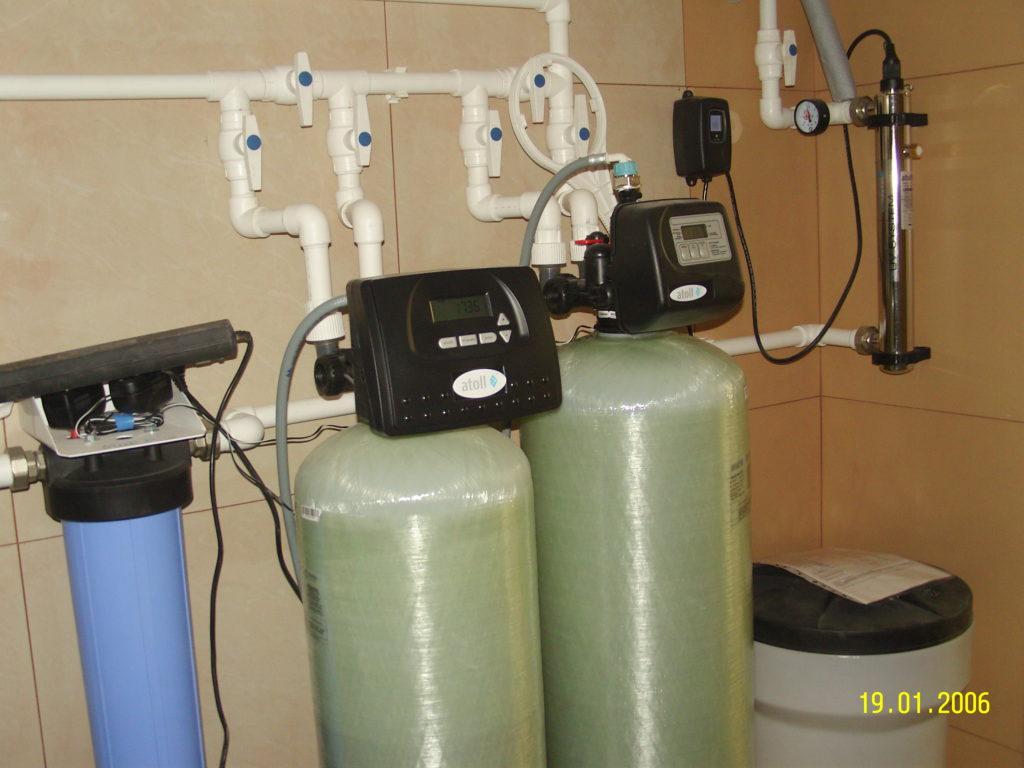 Осадочный и угольный фильтры